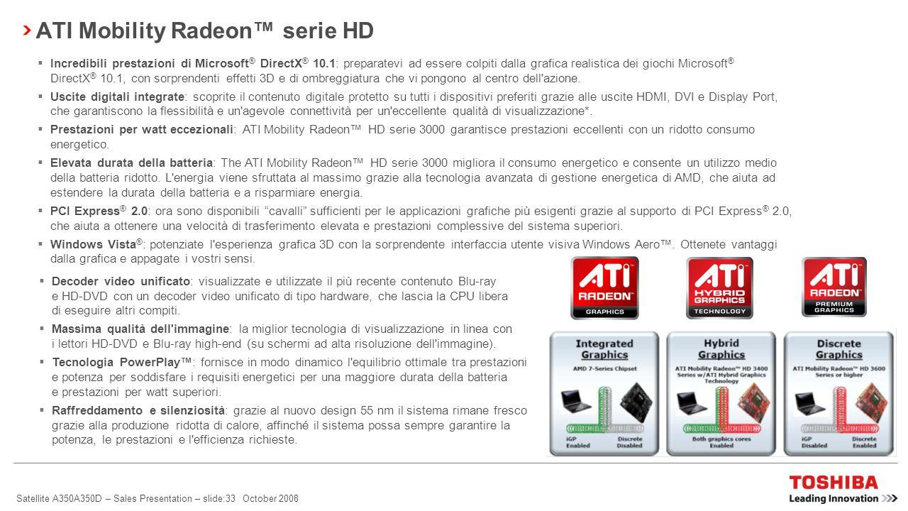 ATI Mobility Radeon™ serie HD