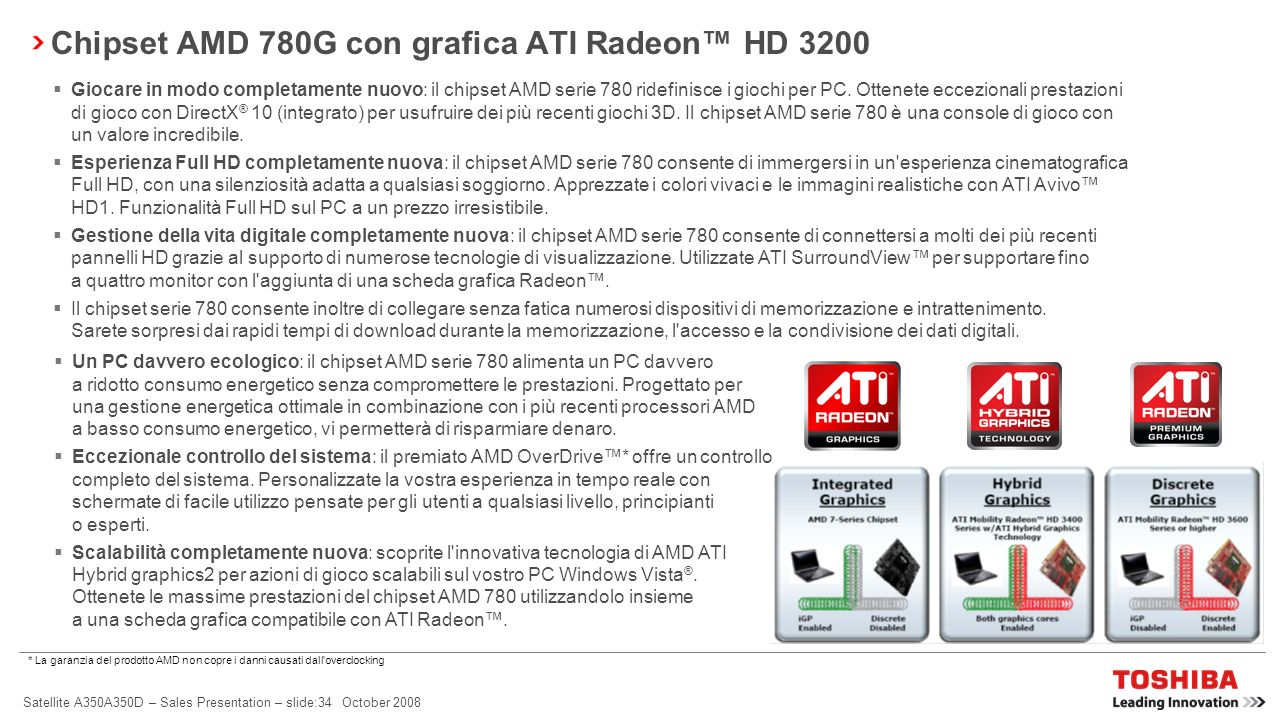 Chipset AMD 780G con grafica ATI Radeon™ HD 3200