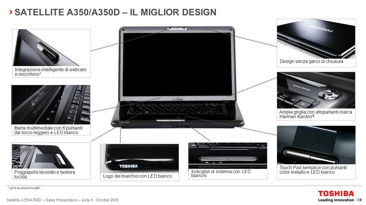 SATELLITE A350/A350D – IL MIGLIOR DESIGN