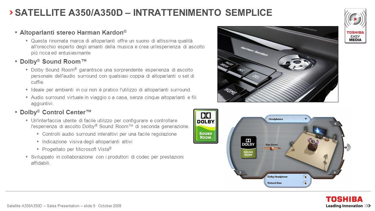 SATELLITE A350/A350D – INTRATTENIMENTO SEMPLICE