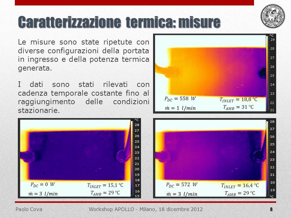 Caratterizzazione termica: misure