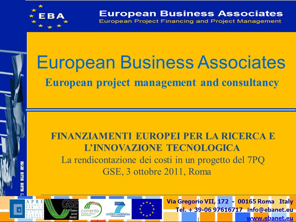 European project management and consultancy