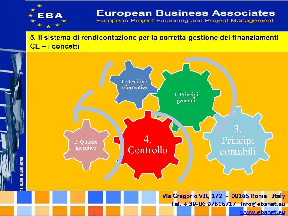 5. Il sistema di rendicontazione per la corretta gestione dei finanziamenti CE – i concetti
