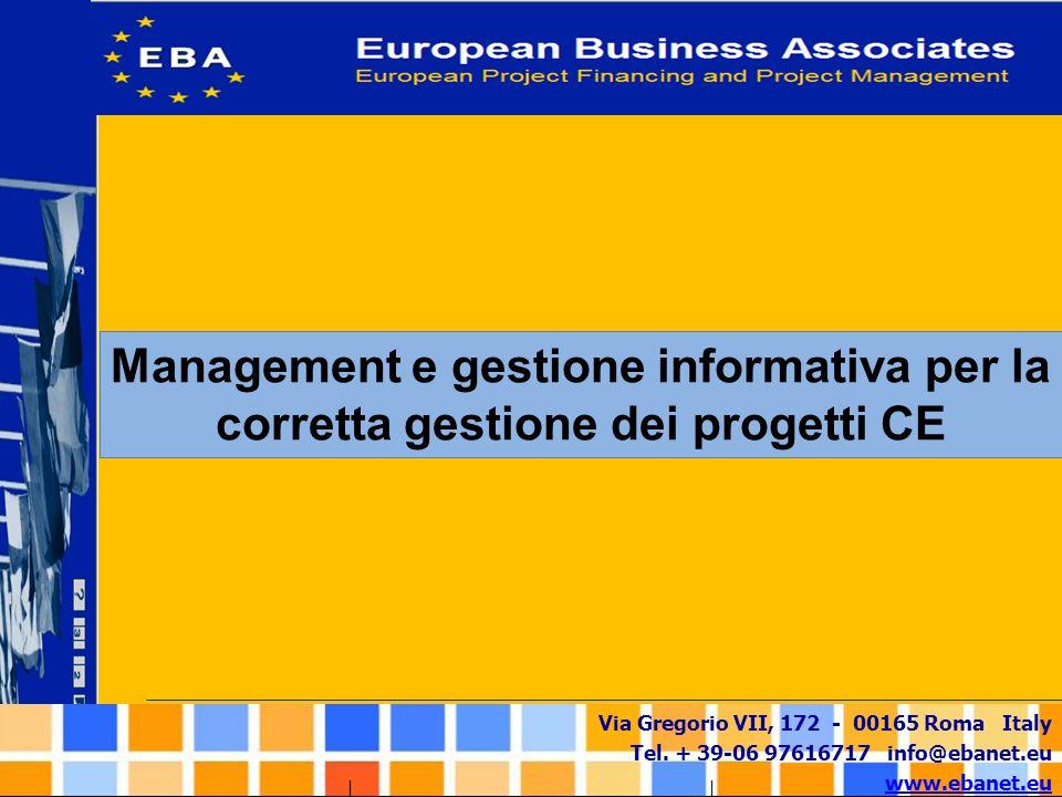 Management e gestione informativa per la corretta gestione dei progetti CE