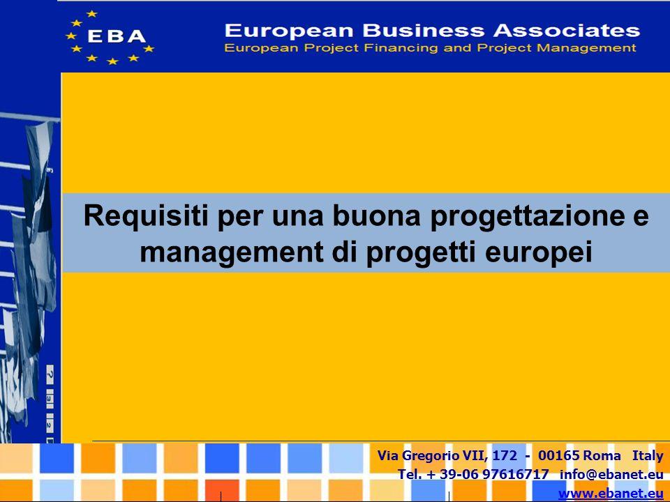 Requisiti per una buona progettazione e management di progetti europei