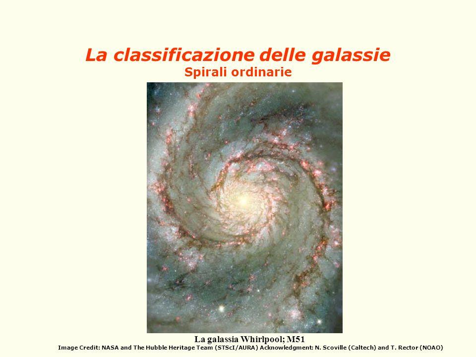 La classificazione delle galassie Spirali ordinarie