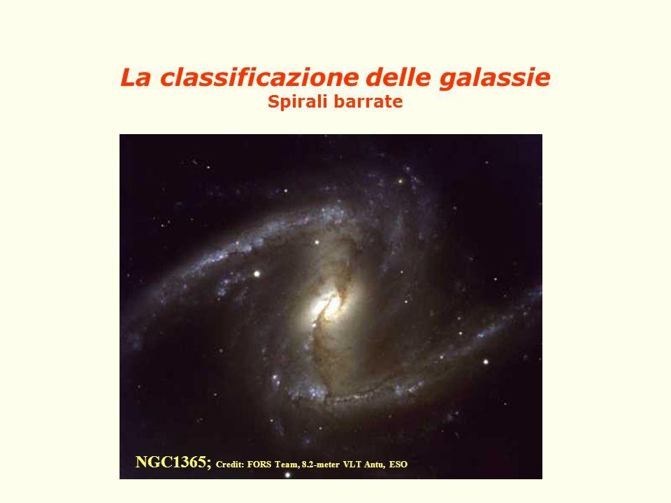 La classificazione delle galassie Spirali barrate