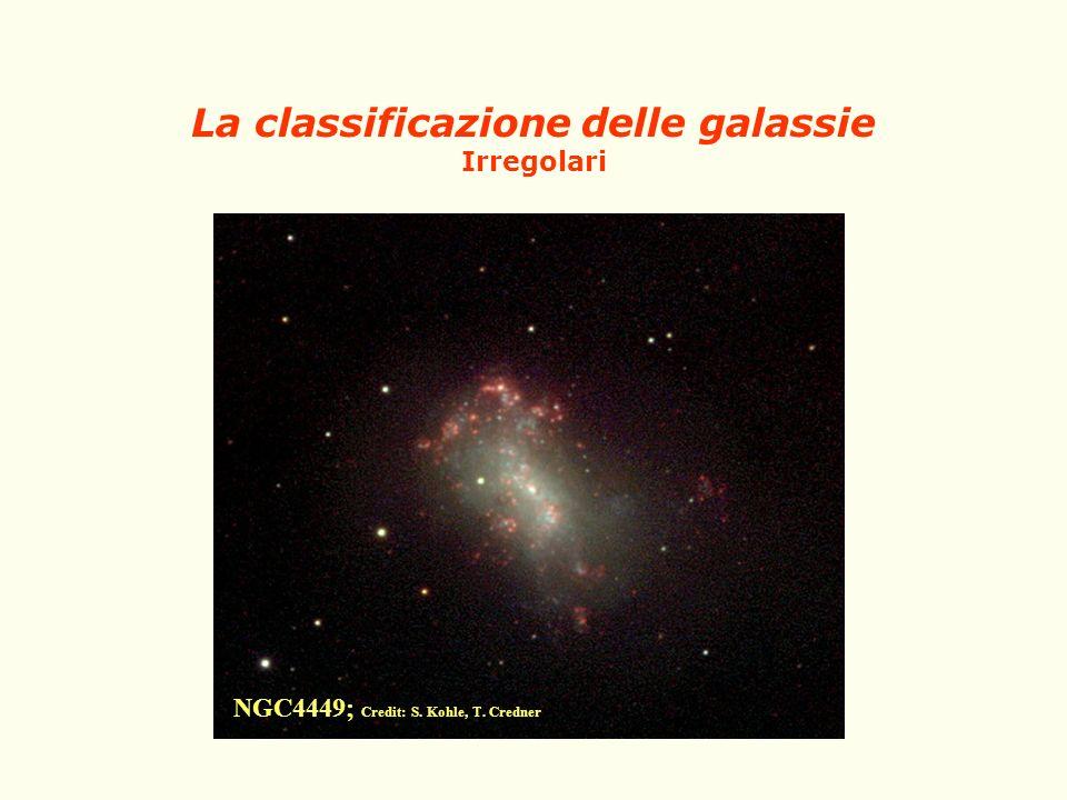 La classificazione delle galassie Irregolari
