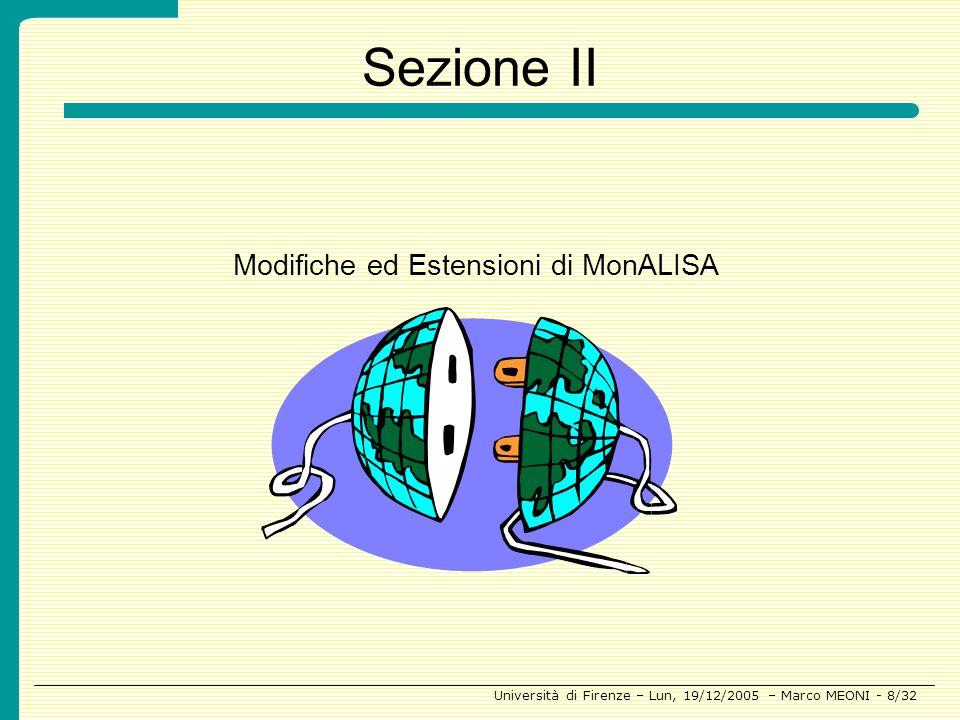 Sezione II Modifiche ed Estensioni di MonALISA