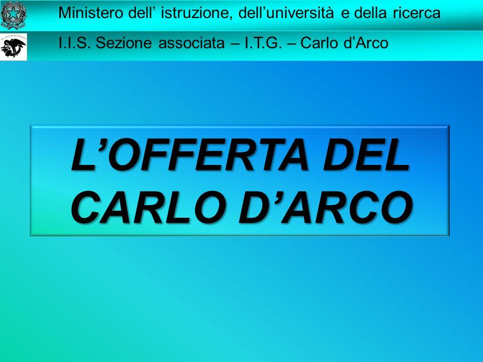 L'OFFERTA DEL CARLO D'ARCO