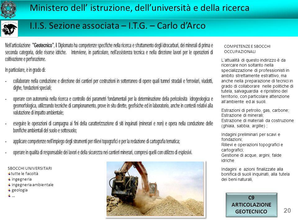 C9 ARTICOLAZIONE GEOTECNICO