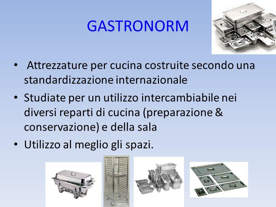 GASTRONORM Attrezzature per cucina costruite secondo una standardizzazione internazionale.