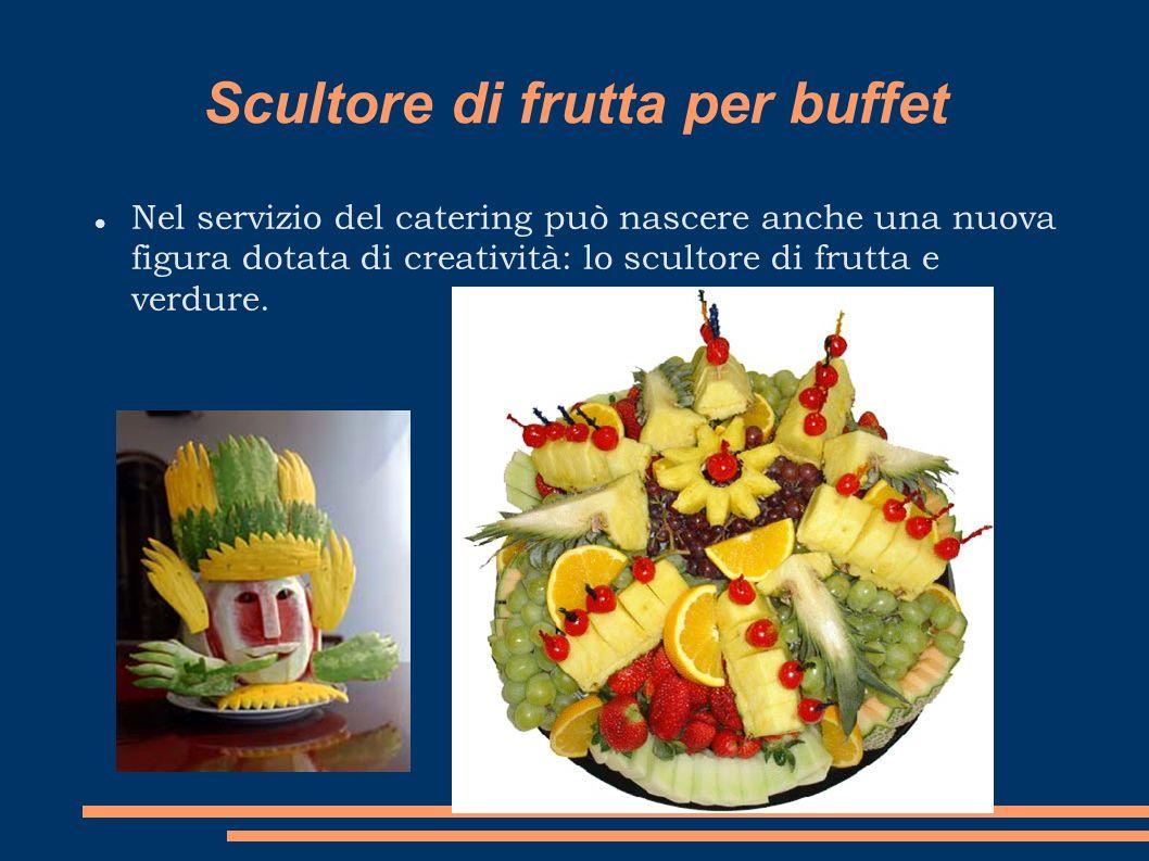 Scultore di frutta per buffet