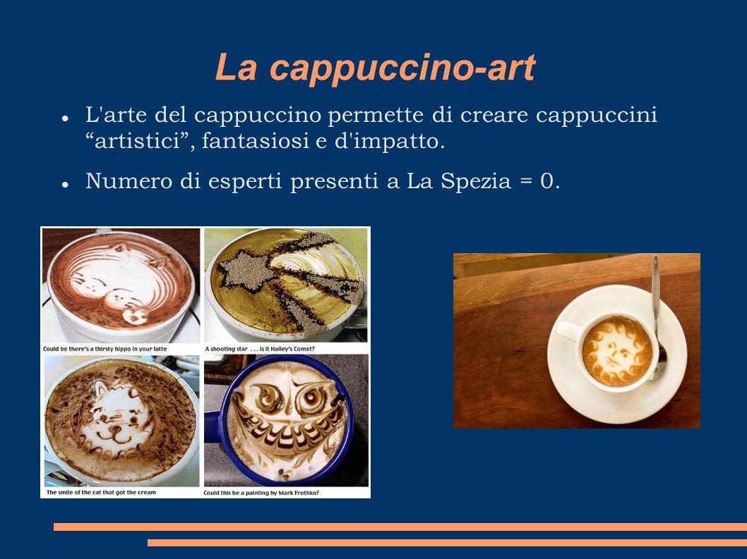 La cappuccino-art L arte del cappuccino permette di creare cappuccini artistici , fantasiosi e d impatto.