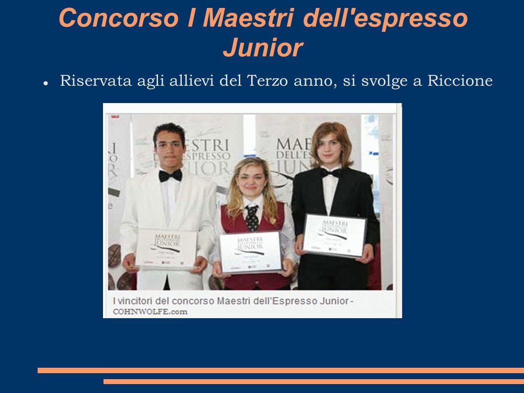 Concorso I Maestri dell espresso Junior