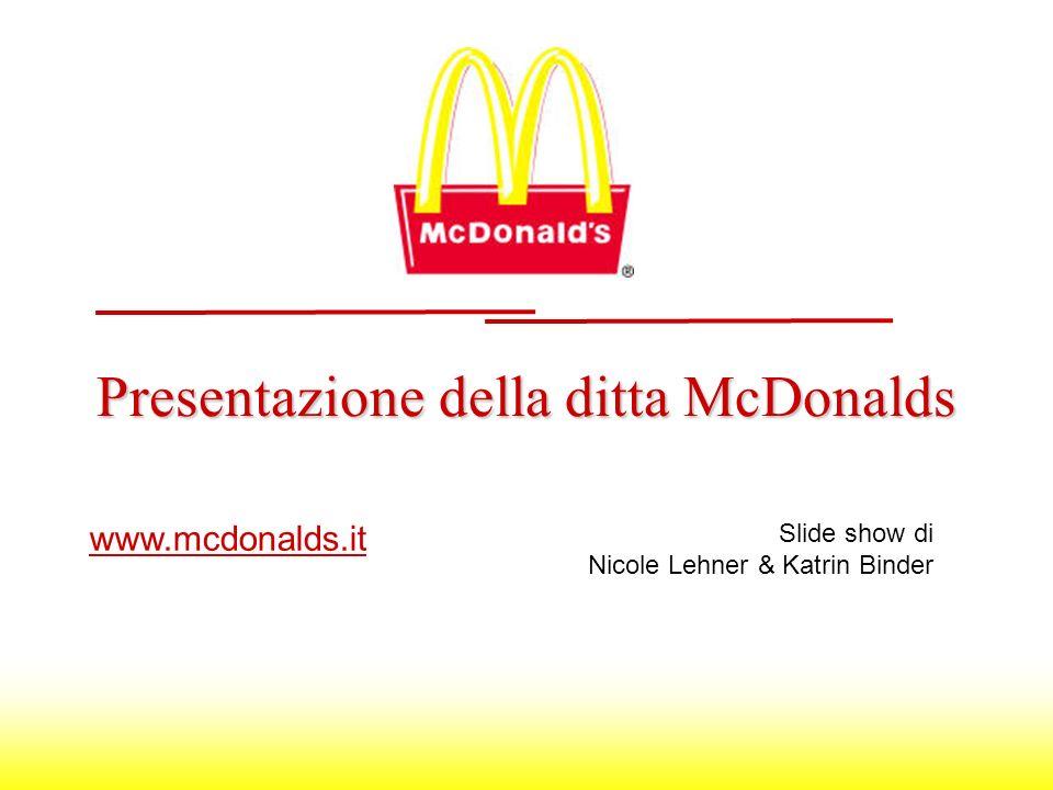 Presentazione della ditta McDonalds