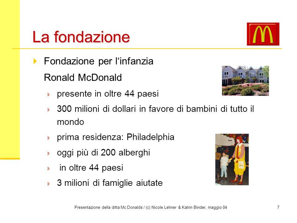 La fondazione Fondazione per l'infanzia Ronald McDonald