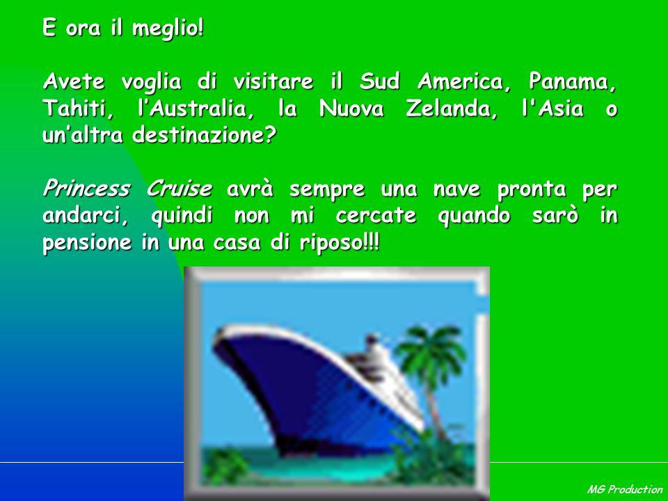 E ora il meglio! Avete voglia di visitare il Sud America, Panama, Tahiti, l'Australia, la Nuova Zelanda, l Asia o un'altra destinazione