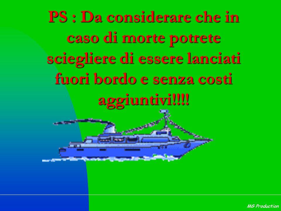 PS : Da considerare che in caso di morte potrete sciegliere di essere lanciati fuori bordo e senza costi aggiuntivi!!!!