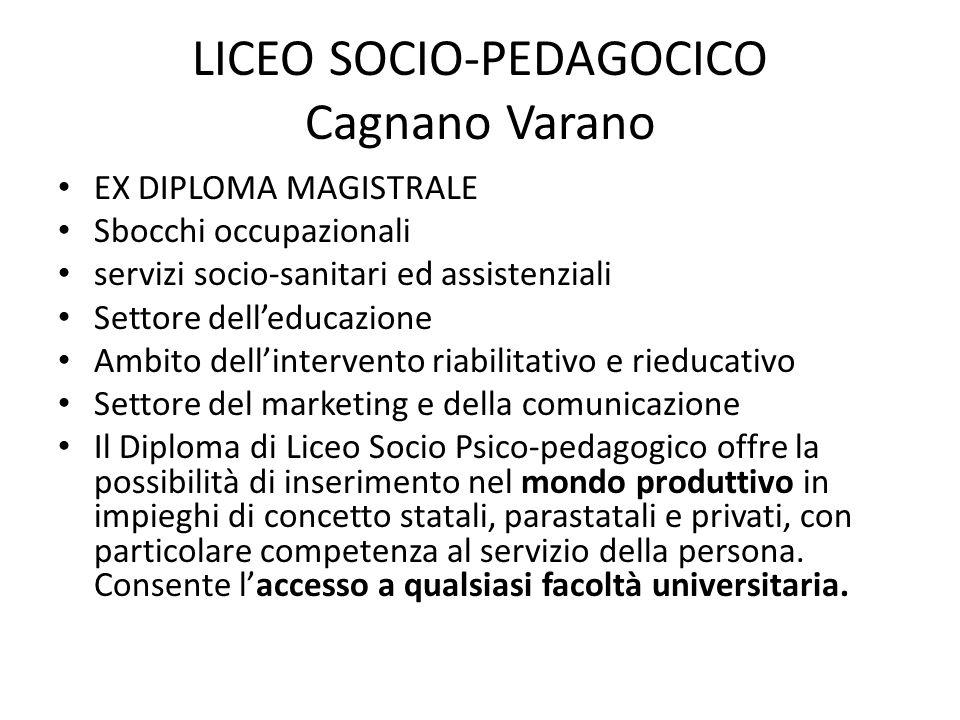 LICEO SOCIO-PEDAGOCICO Cagnano Varano
