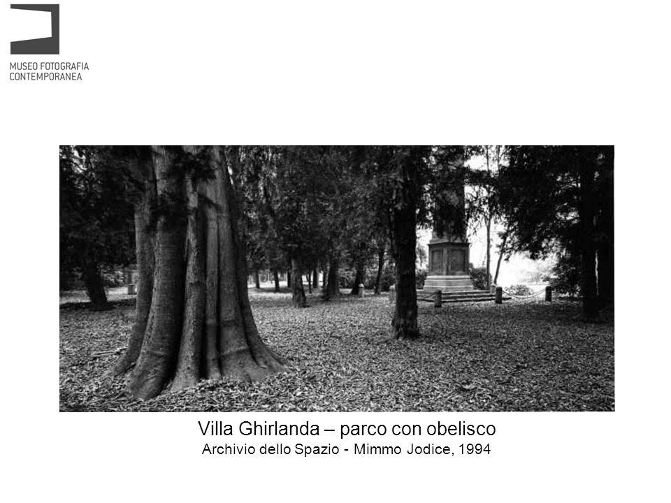 Villa Ghirlanda – parco con obelisco Archivio dello Spazio - Mimmo Jodice, 1994