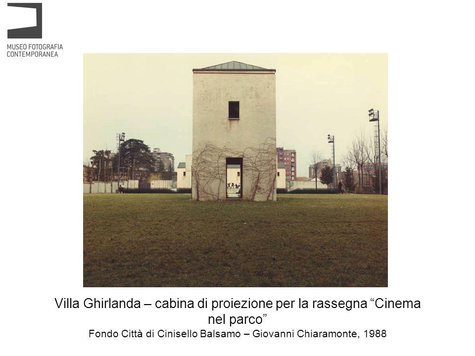 Villa Ghirlanda – cabina di proiezione per la rassegna Cinema nel parco Fondo Città di Cinisello Balsamo – Giovanni Chiaramonte, 1988