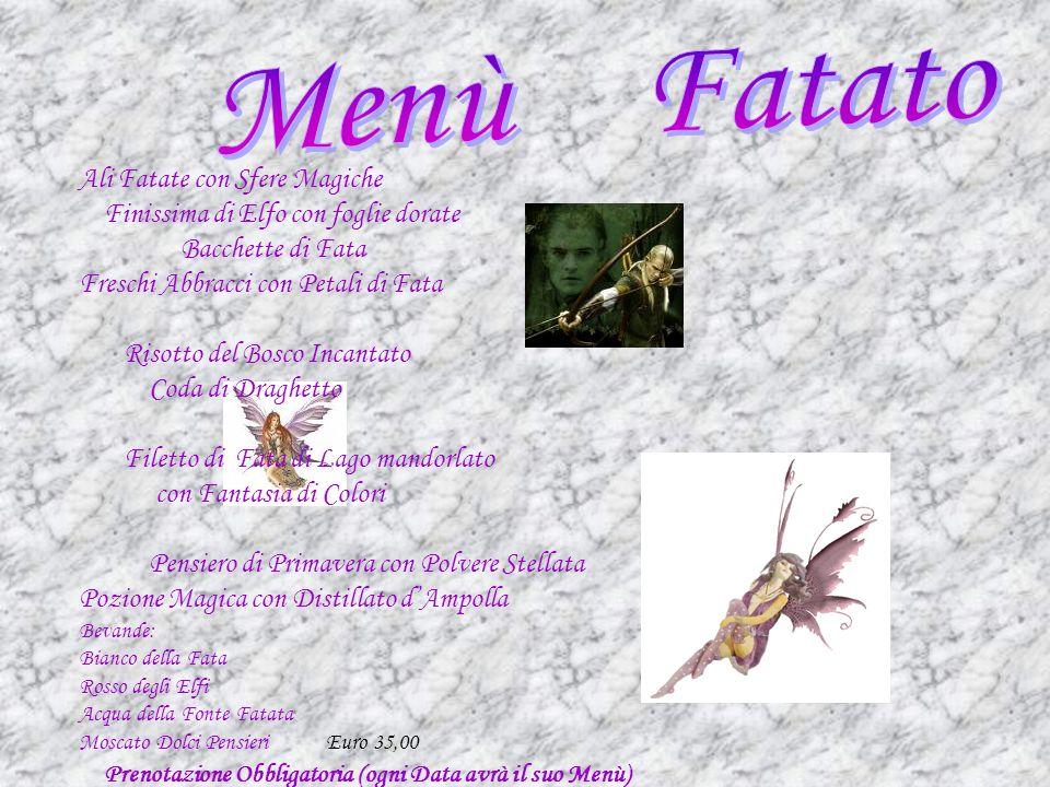 Menù Fatato Ali Fatate con Sfere Magiche