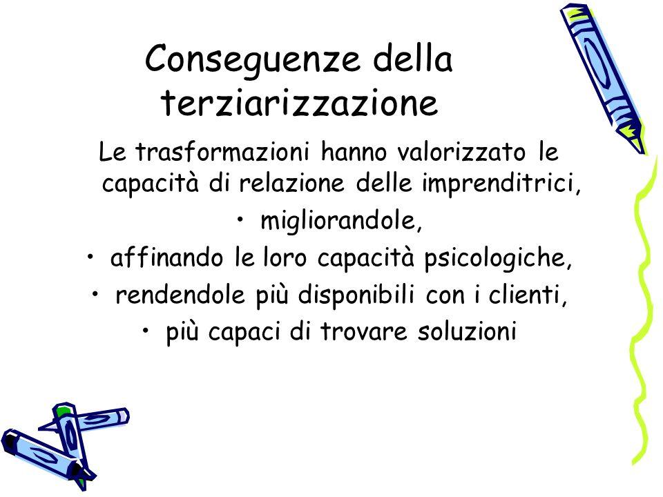 Conseguenze della terziarizzazione
