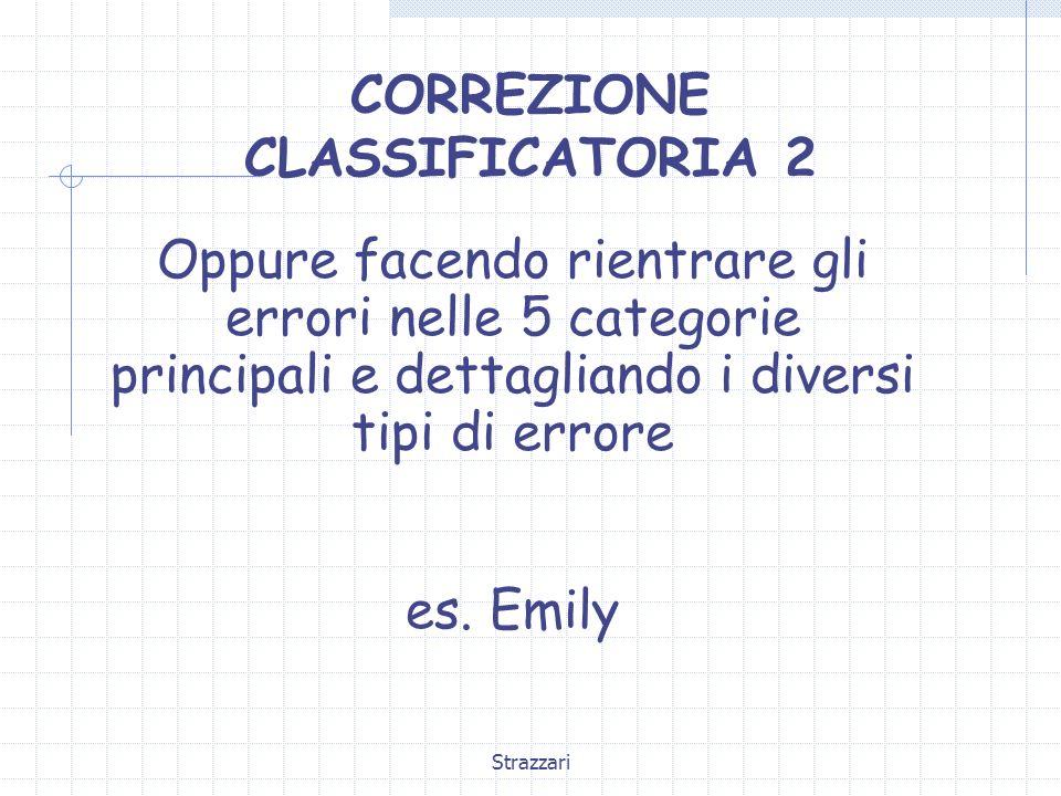 CORREZIONE CLASSIFICATORIA 2