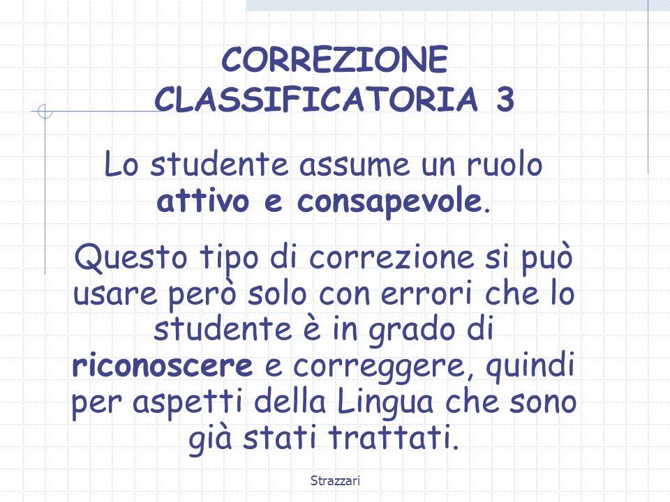 CORREZIONE CLASSIFICATORIA 3