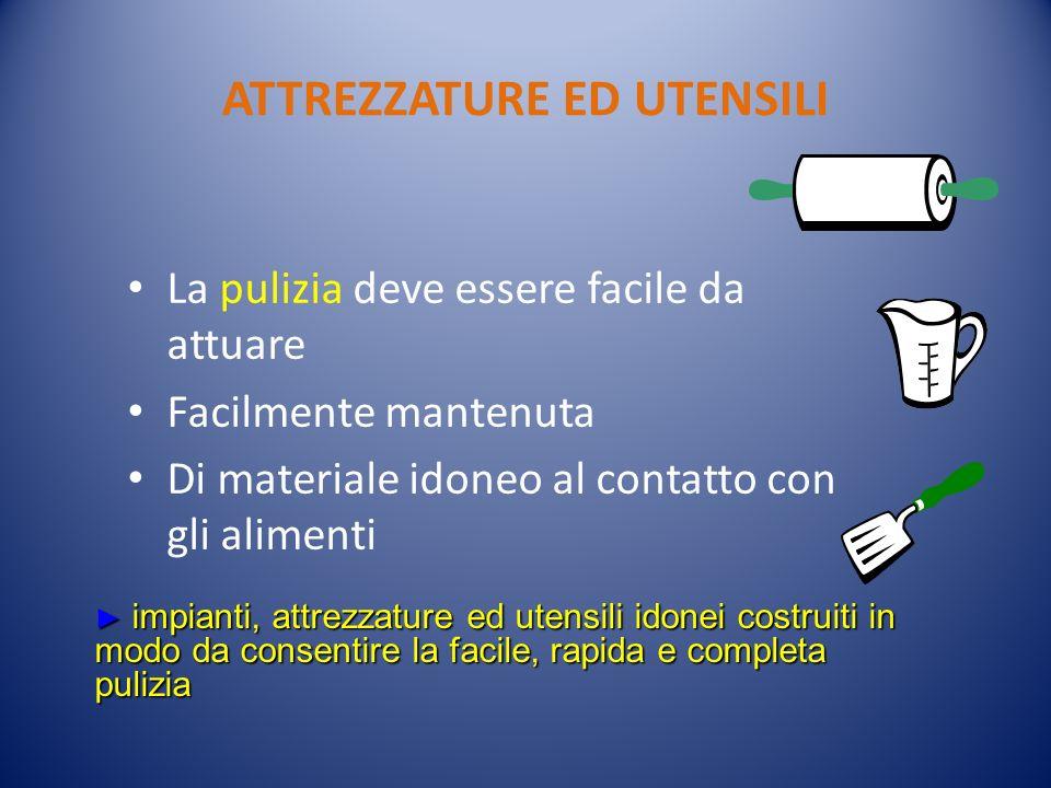 ATTREZZATURE ED UTENSILI