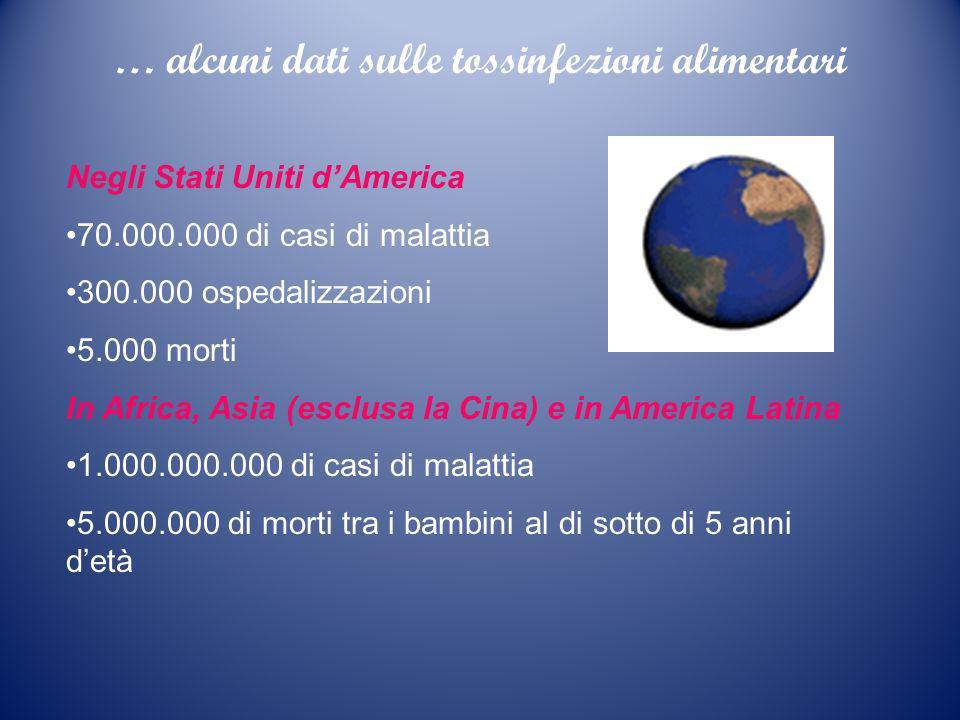 … alcuni dati sulle tossinfezioni alimentari