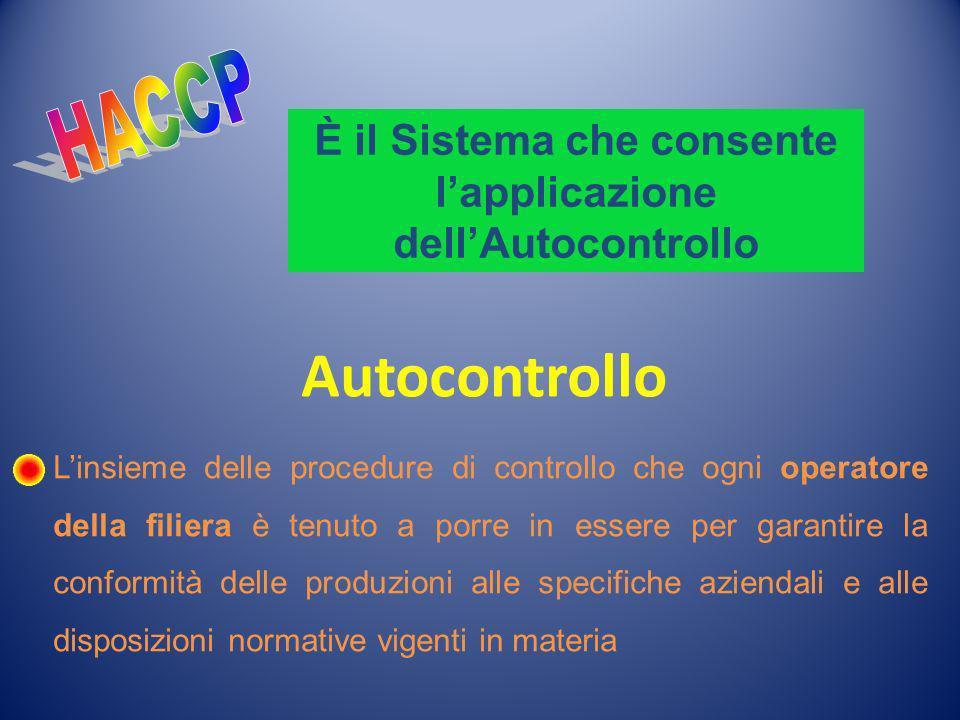 È il Sistema che consente l'applicazione dell'Autocontrollo