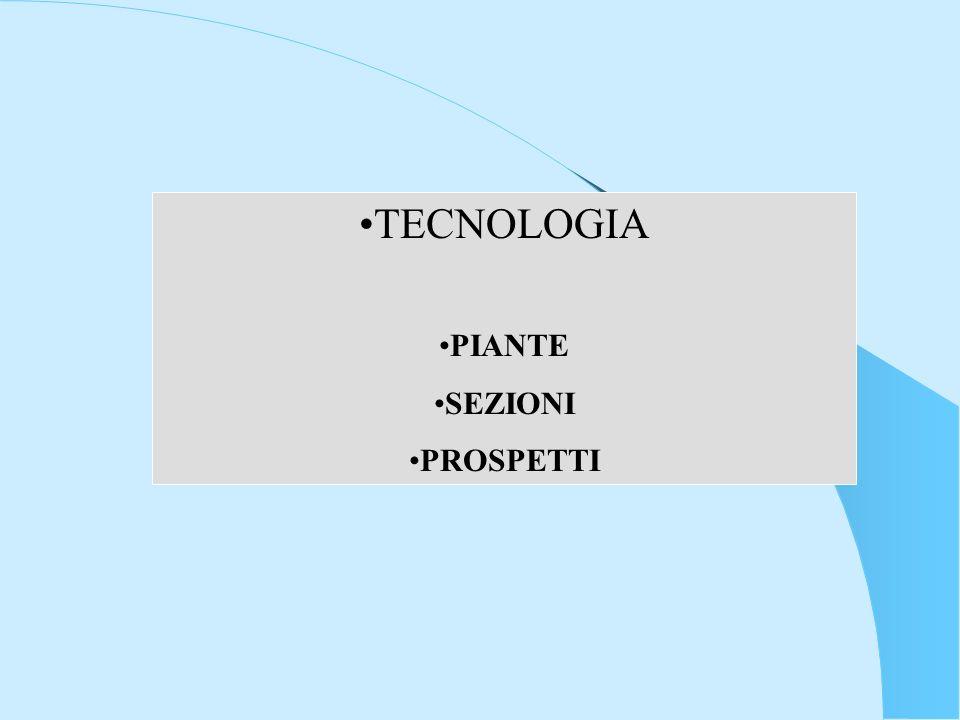 TECNOLOGIA PIANTE SEZIONI PROSPETTI