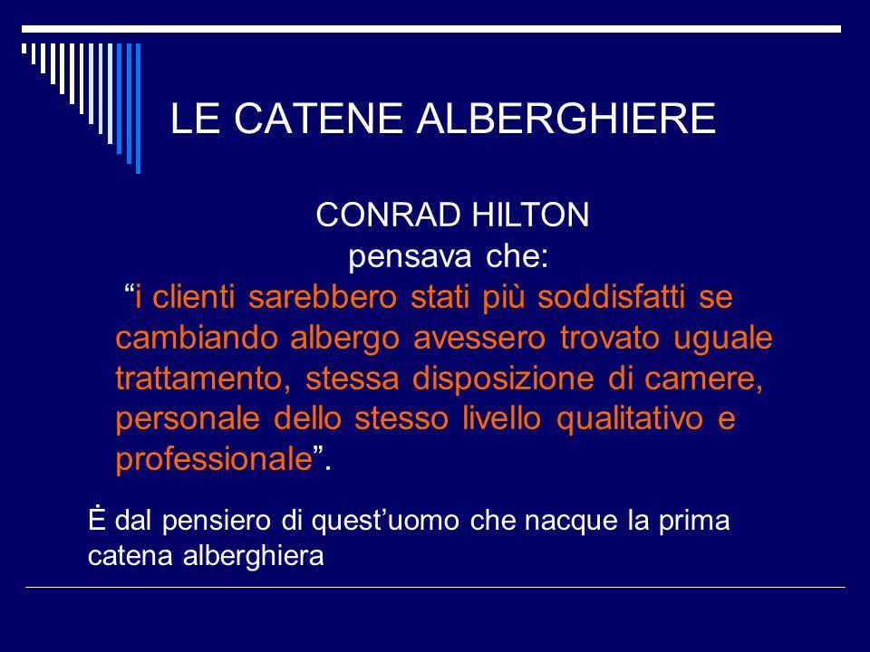 LE CATENE ALBERGHIERE CONRAD HILTON pensava che: