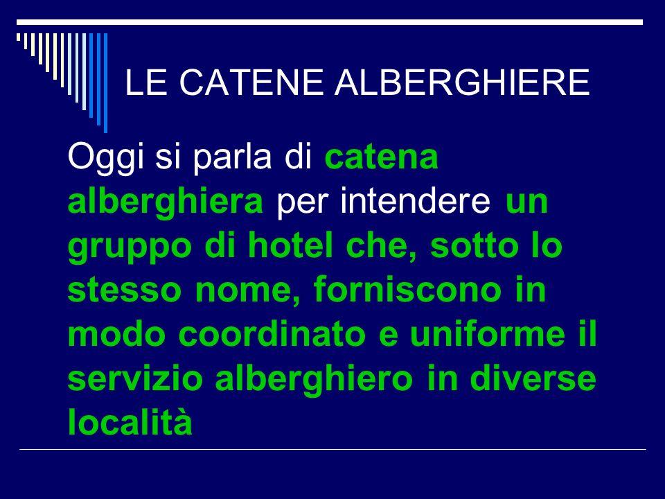 LE CATENE ALBERGHIERE