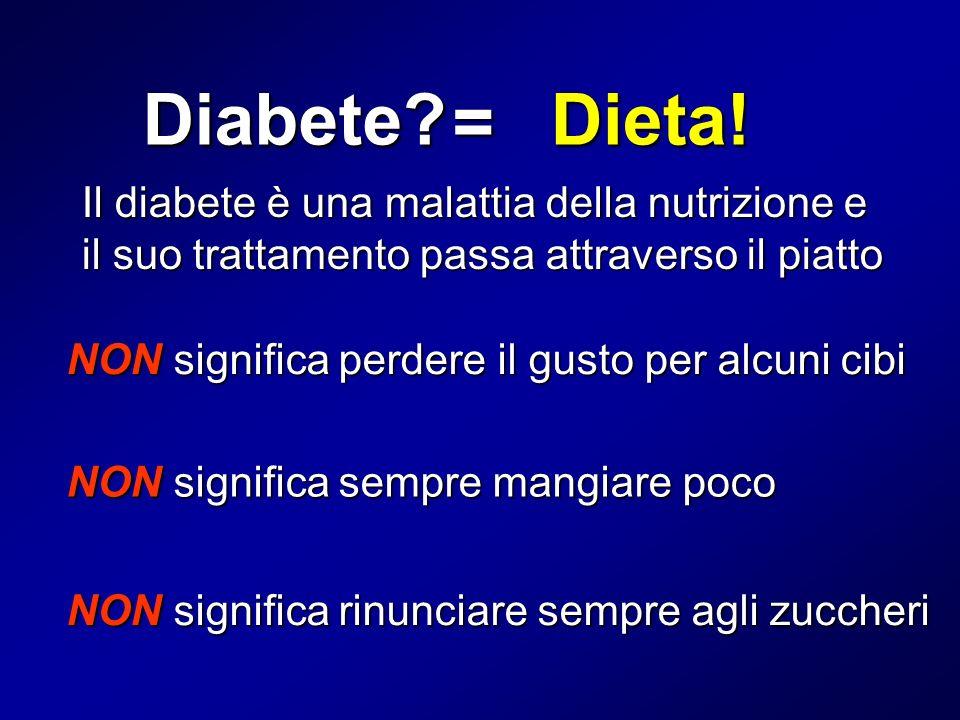 Diabete Dieta! = Il diabete è una malattia della nutrizione e il suo trattamento passa attraverso il piatto.