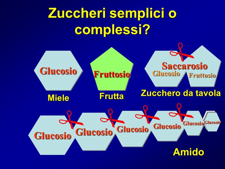 Zuccheri semplici o complessi