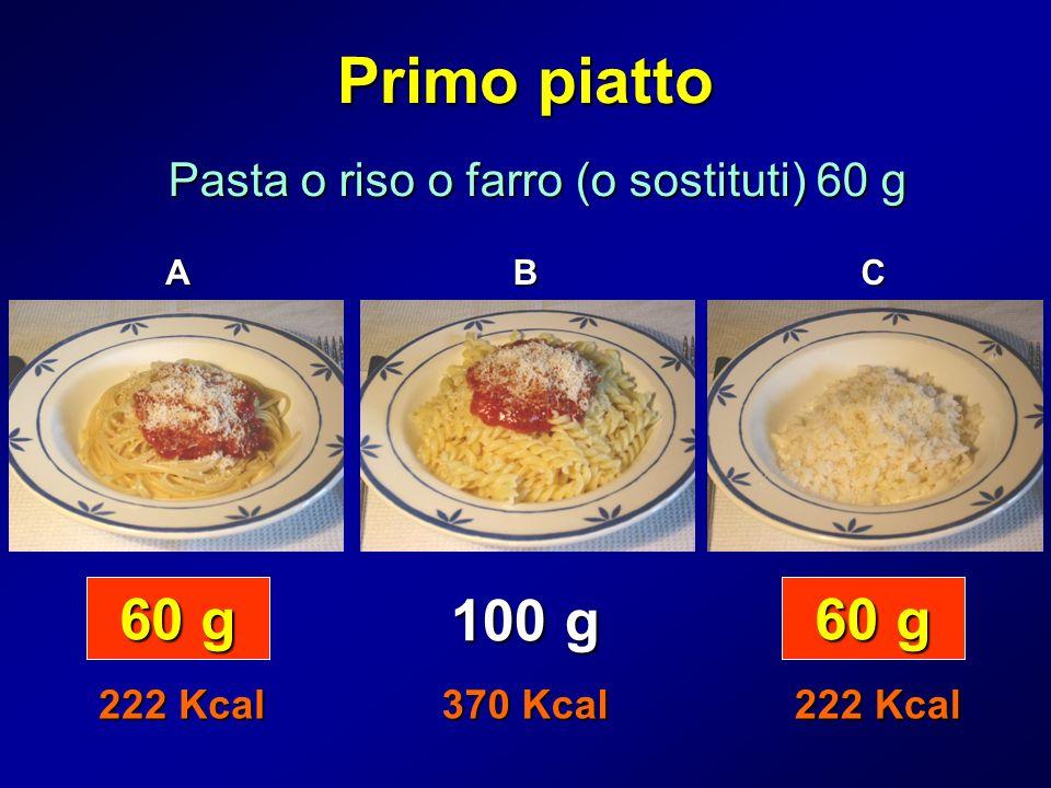 Pasta o riso o farro (o sostituti) 60 g
