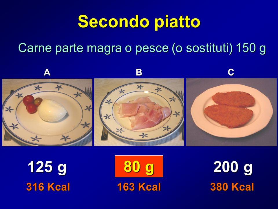 Carne parte magra o pesce (o sostituti) 150 g