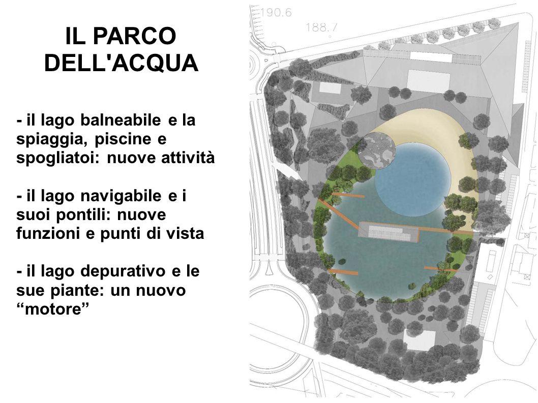 IL PARCO DELL ACQUA - il lago balneabile e la spiaggia, piscine e