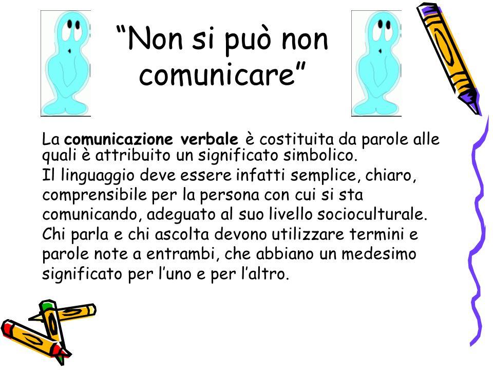 Non si può non comunicare