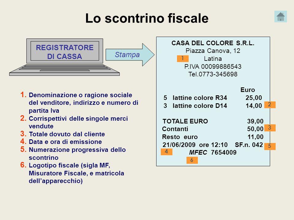 Lo scontrino fiscale REGISTRATORE DI CASSA Stampa