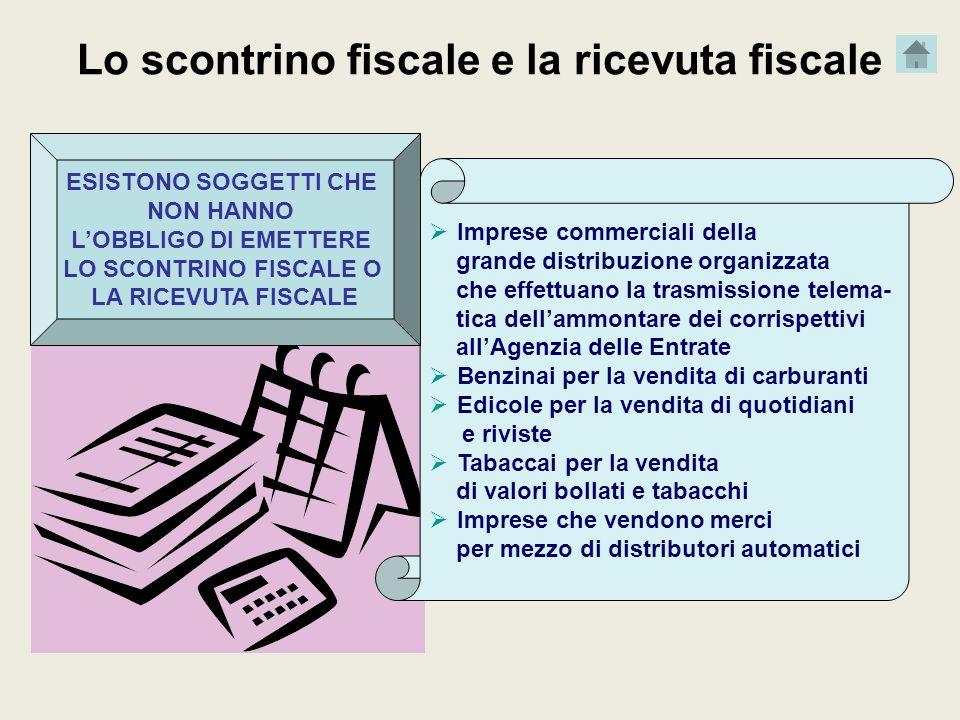 Lo scontrino fiscale e la ricevuta fiscale