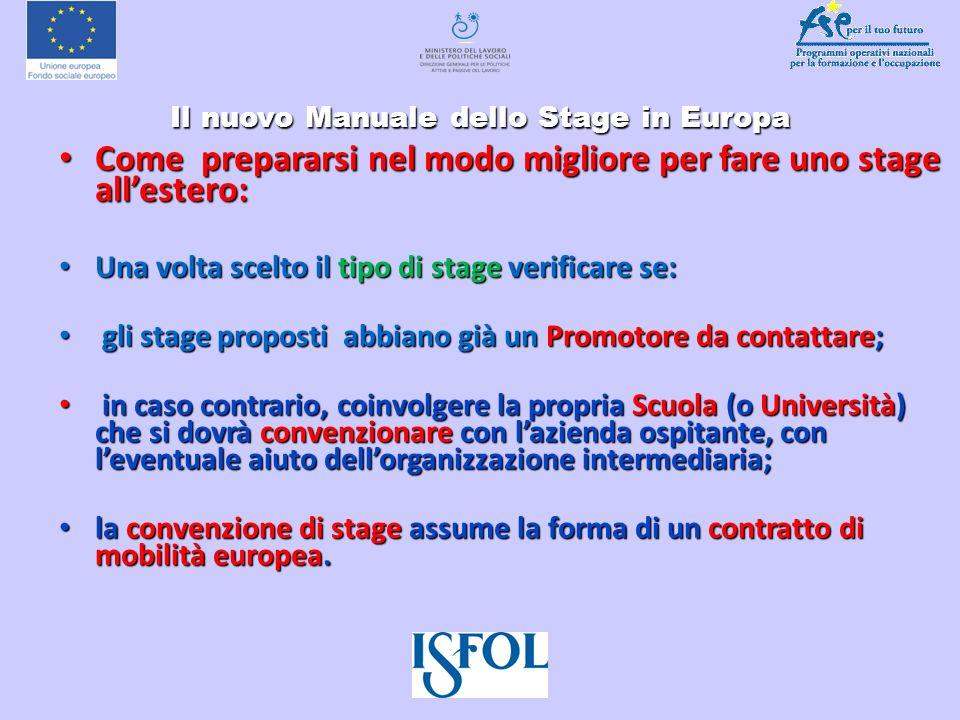 Il nuovo Manuale dello Stage in Europa