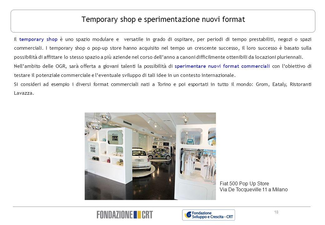 Temporary shop e sperimentazione nuovi format