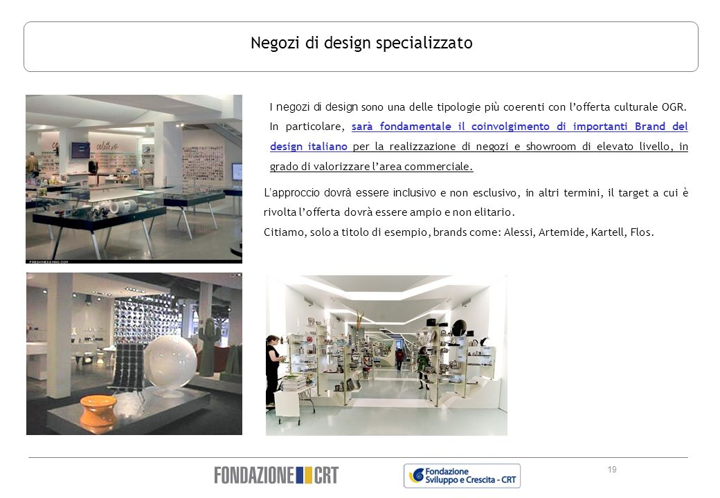 Negozi di design specializzato