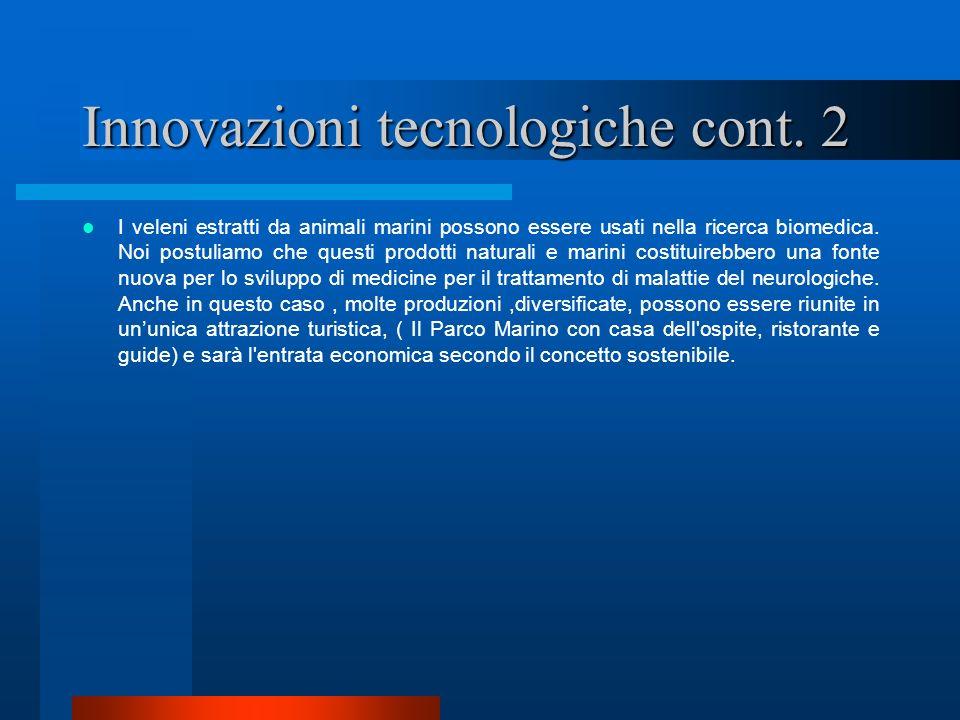 Innovazioni tecnologiche cont. 2