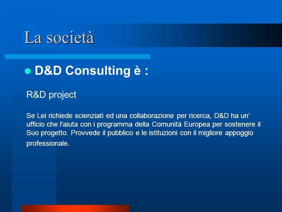 La società D&D Consulting è : R&D project