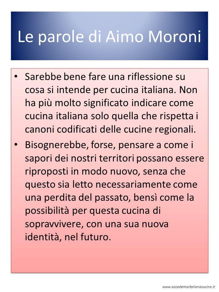 Le parole di Aimo Moroni